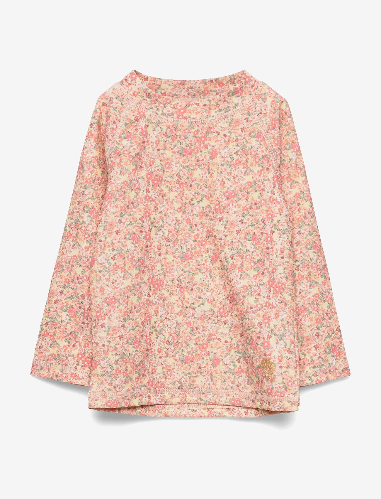Wheat - Swim T-Shirt Dilan LS - koszulki - lemon curd flowers - 0