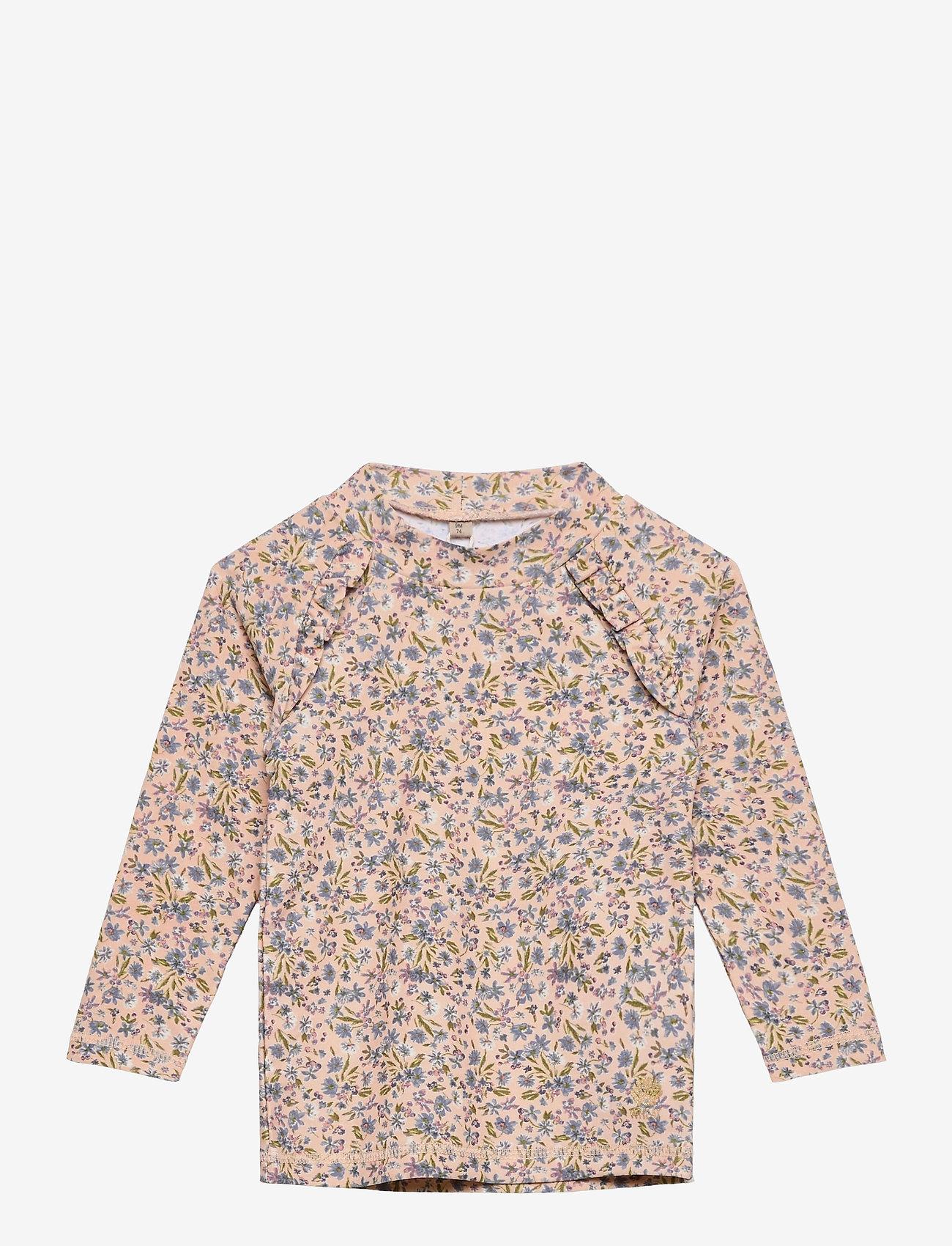 Wheat - Swim T-Shirt Alma - uv-clothing - blue flowers - 0