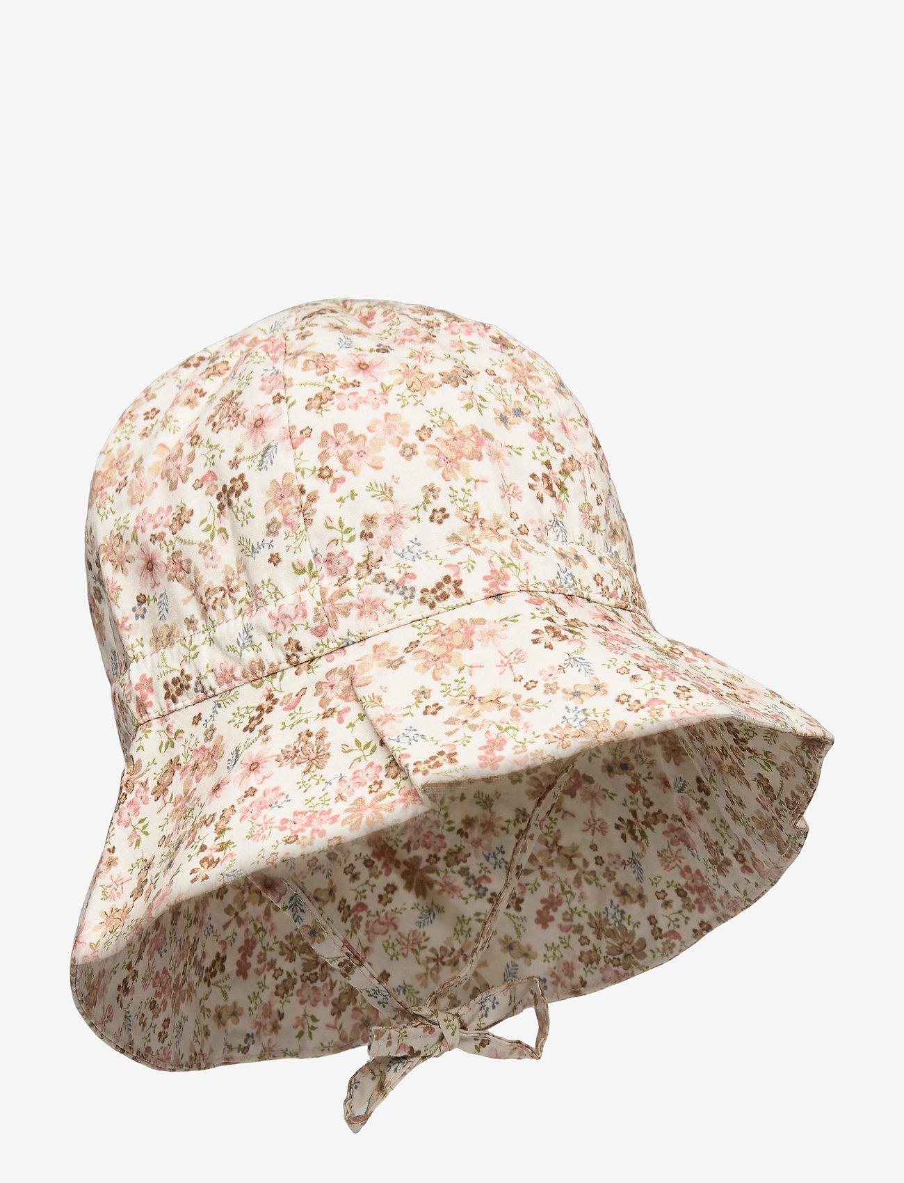 Wheat - Baby Girl Sun Hat - huer & kasketter - eggshell flowers - 0