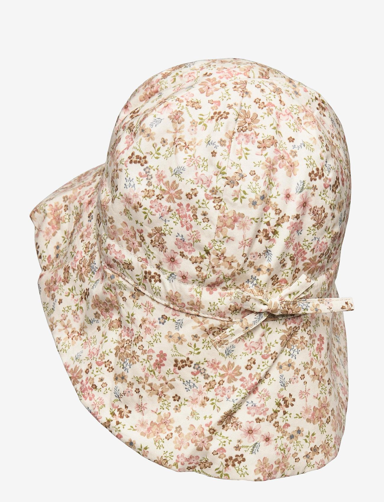 Wheat - Baby Girl Sun Hat - huer & kasketter - eggshell flowers - 1