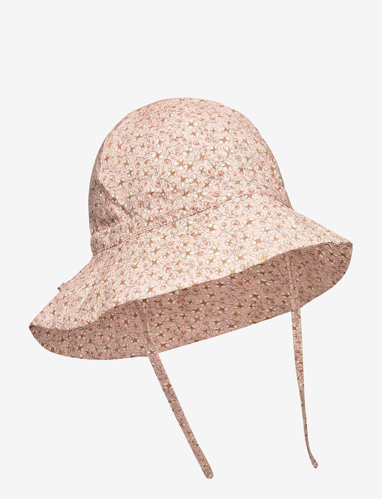 Wheat - Baby Girl Sun Hat - solhat - misty rose flowers - 0