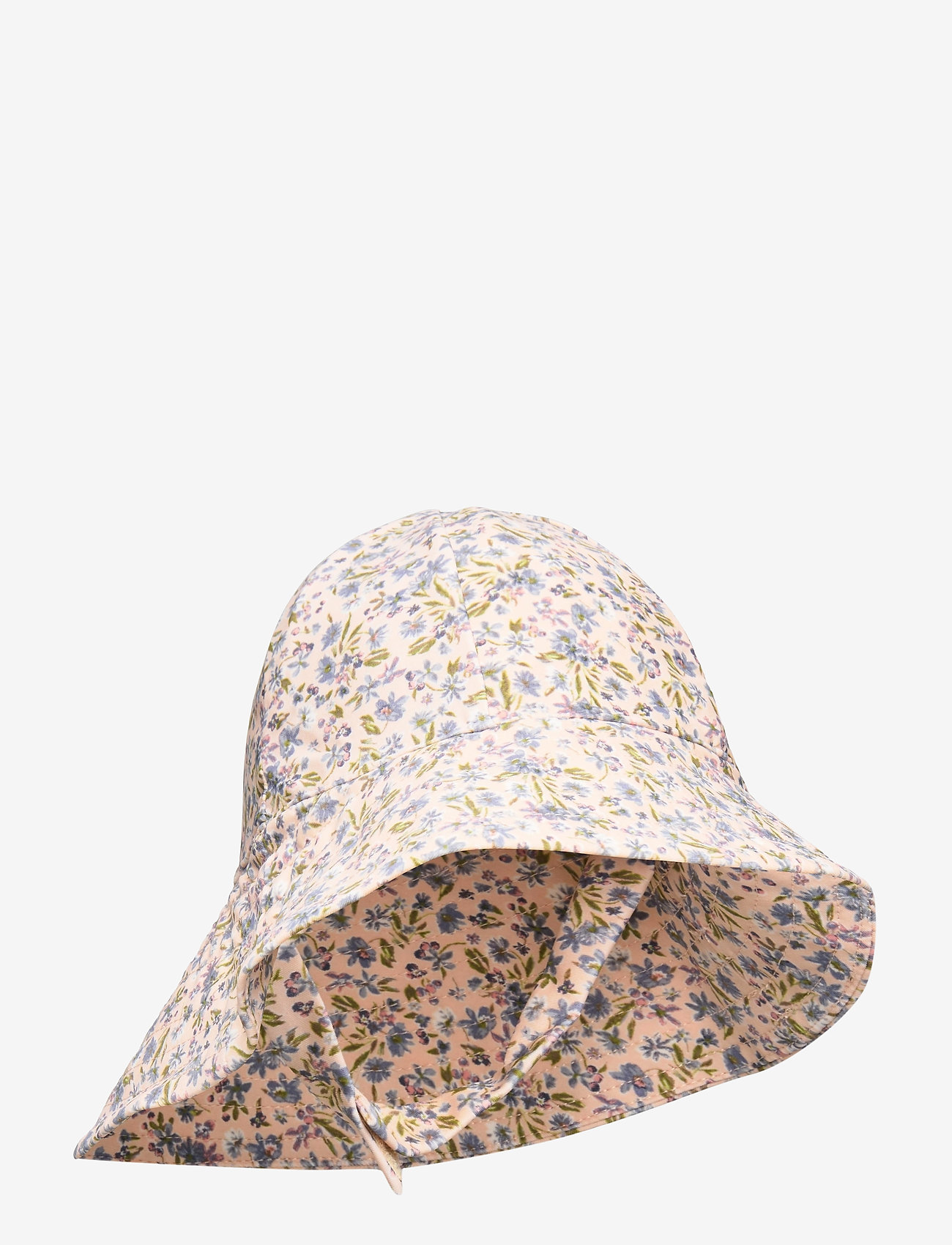 Wheat - UV Sun Hat - solhat - blue flowers - 0