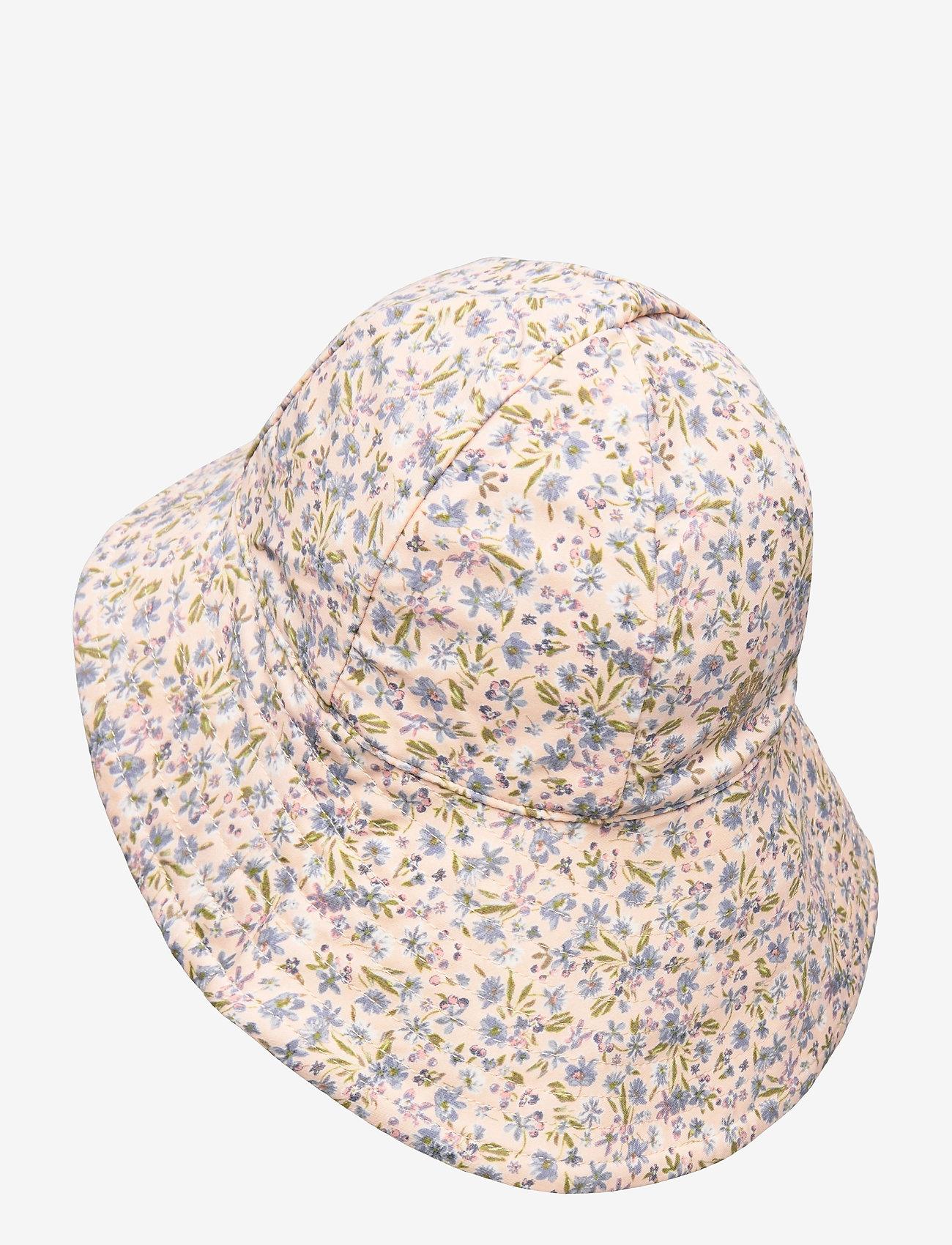 Wheat - UV Sun Hat - solhat - blue flowers - 1
