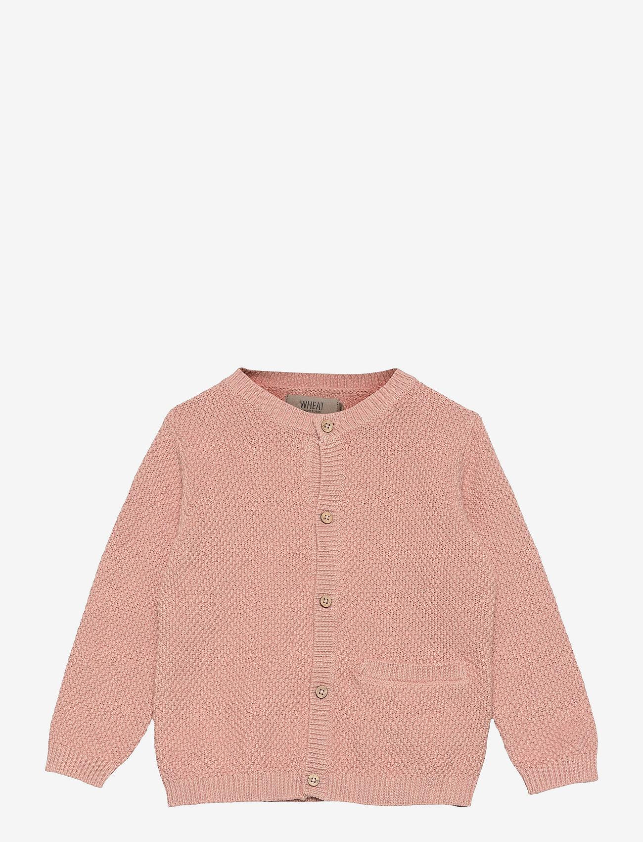Wheat - Knit Cardigan Ray - gilets - misty rose - 0