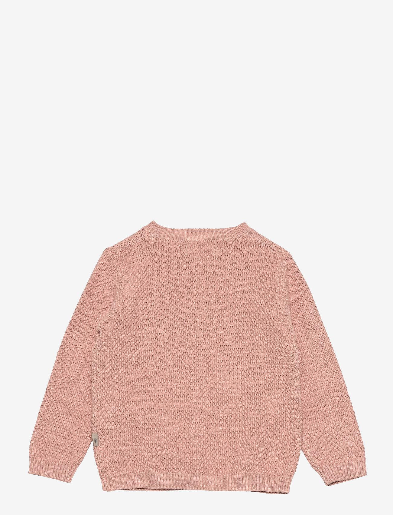 Wheat - Knit Cardigan Ray - gilets - misty rose - 1