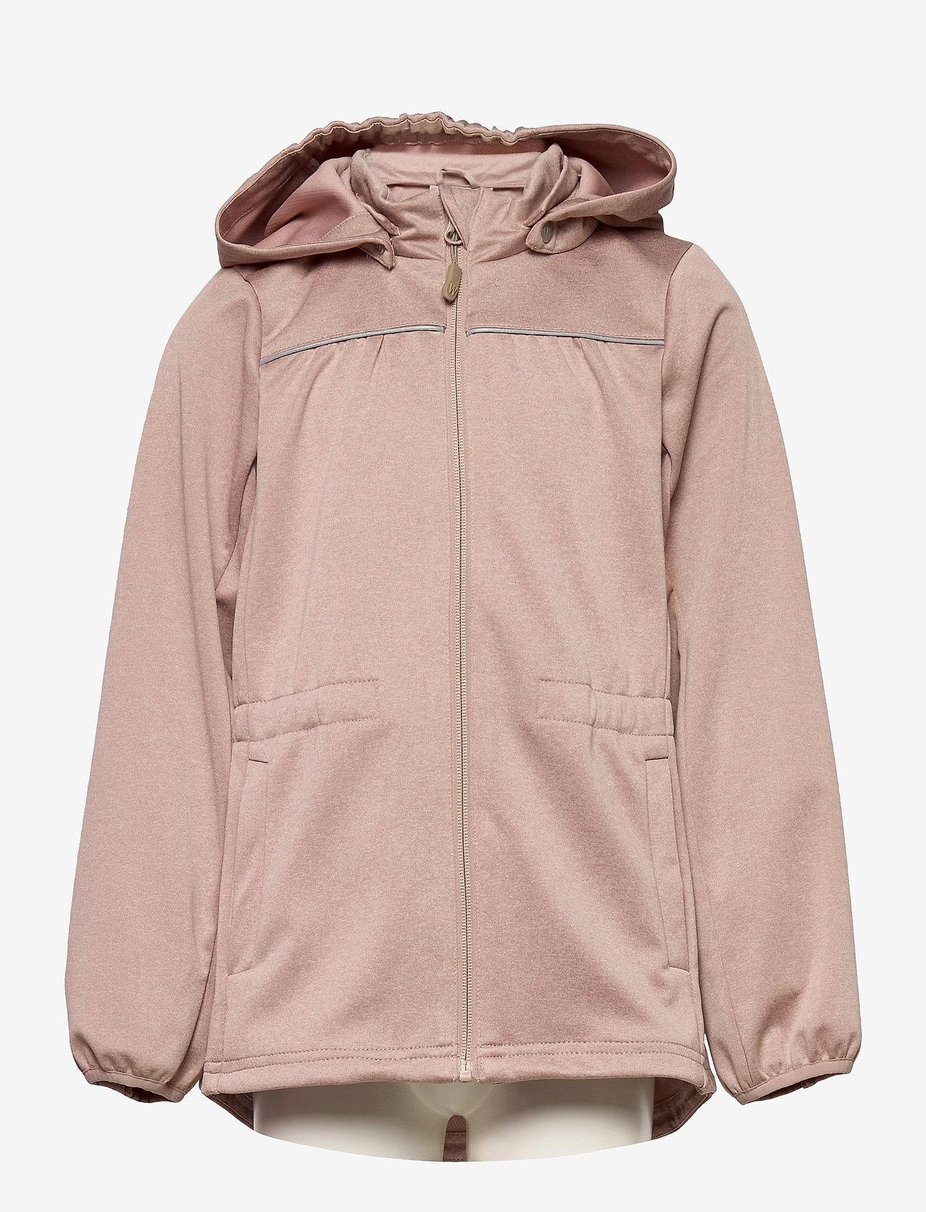 Wheat - Softshell Jacket Gilda - softshell-jakker - fawn melange - 0