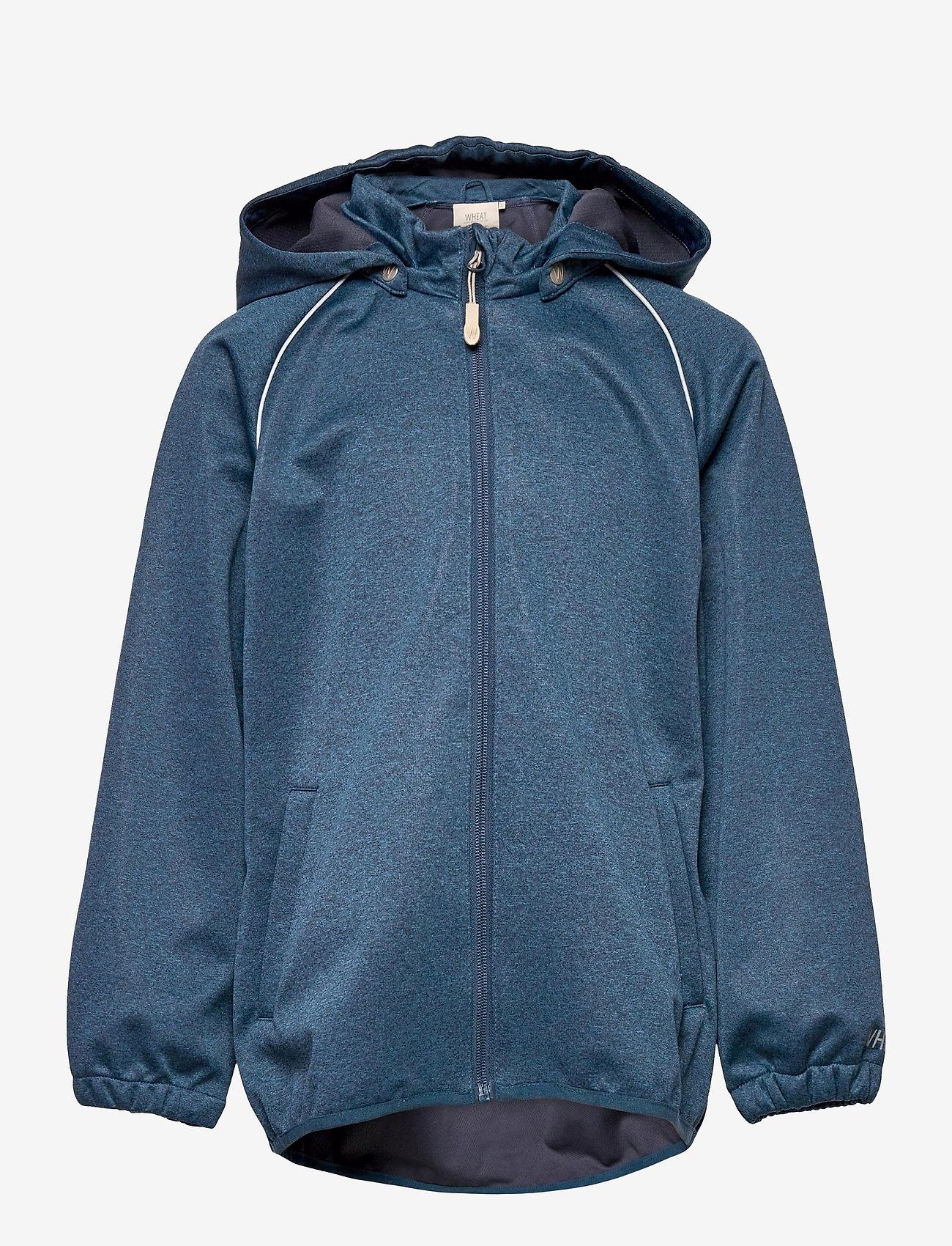 Wheat - Softshell Jacket Eddie - softshell-jakker - blue melange - 0