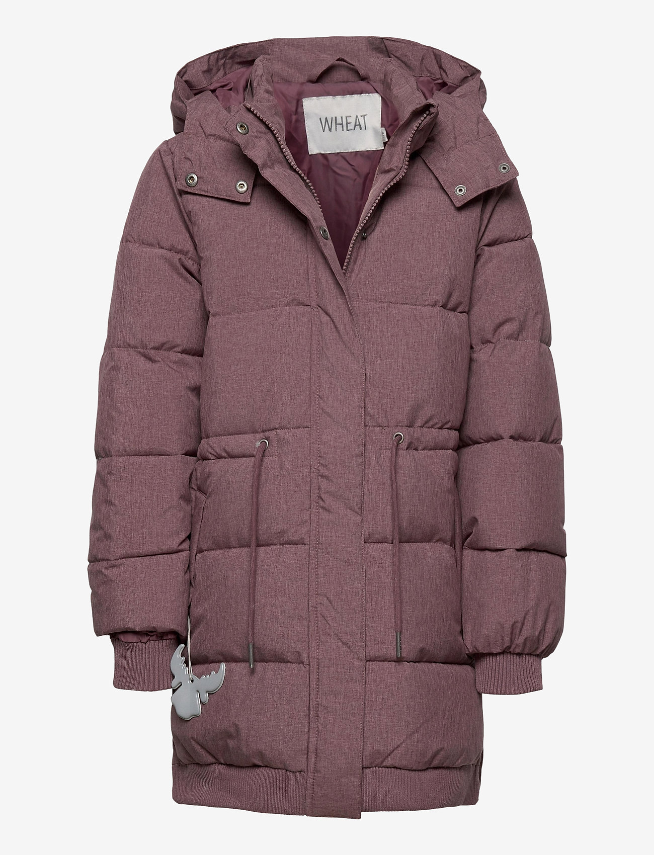 Wheat - Down Jacket Kamma - puffer & padded - eggplant melange - 0