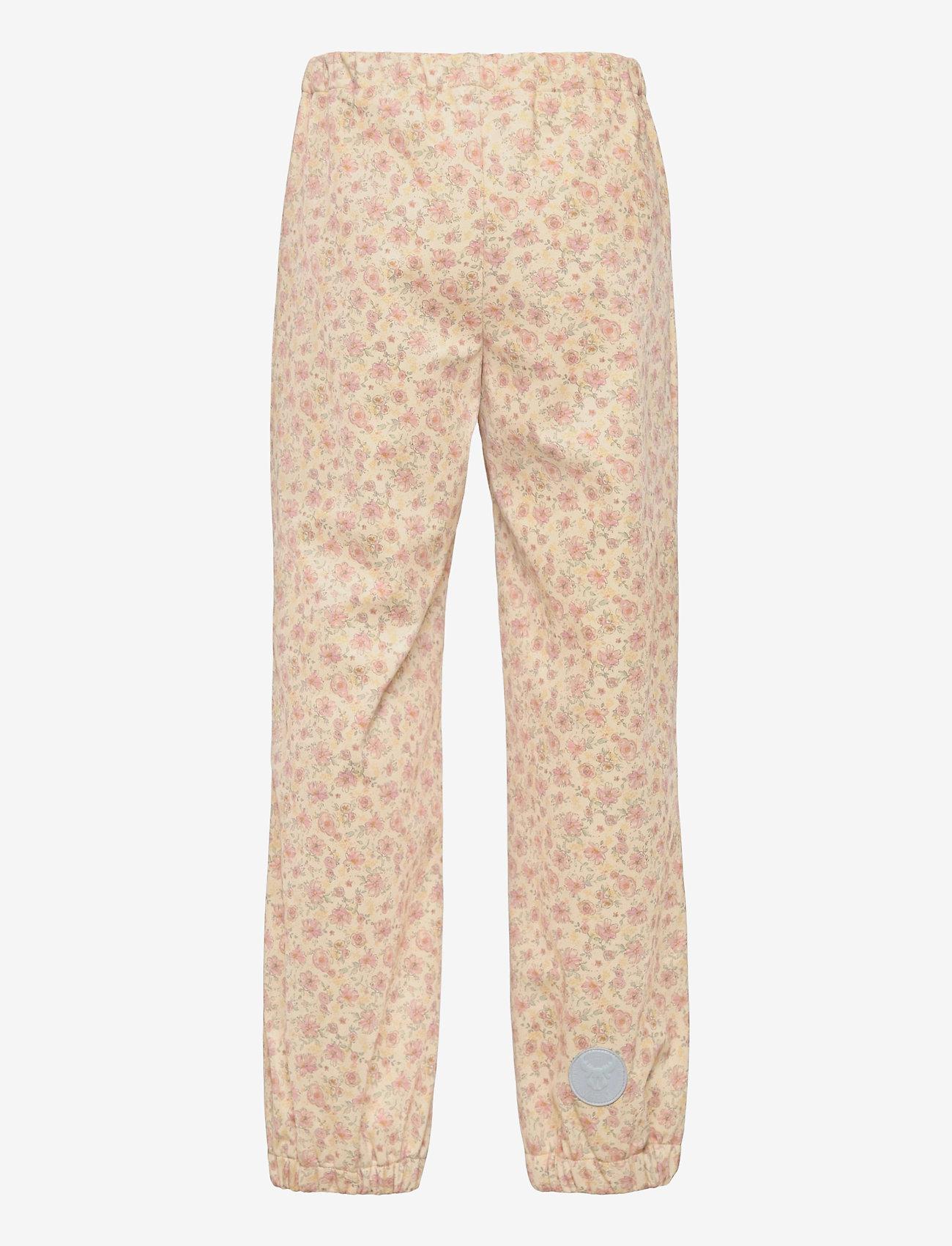 Wheat - Softshell Pants Jean - underdele - soft beige flowers - 1