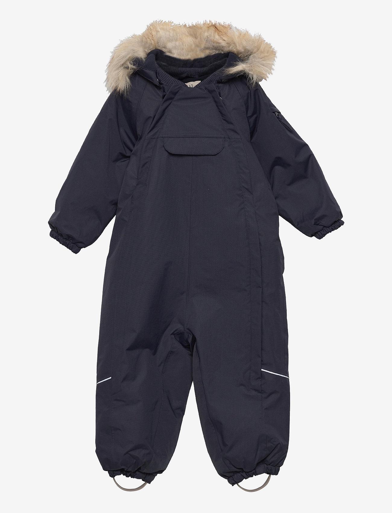 Wheat - Snowsuit Nickie Tech - snowsuit - deep blue - 0
