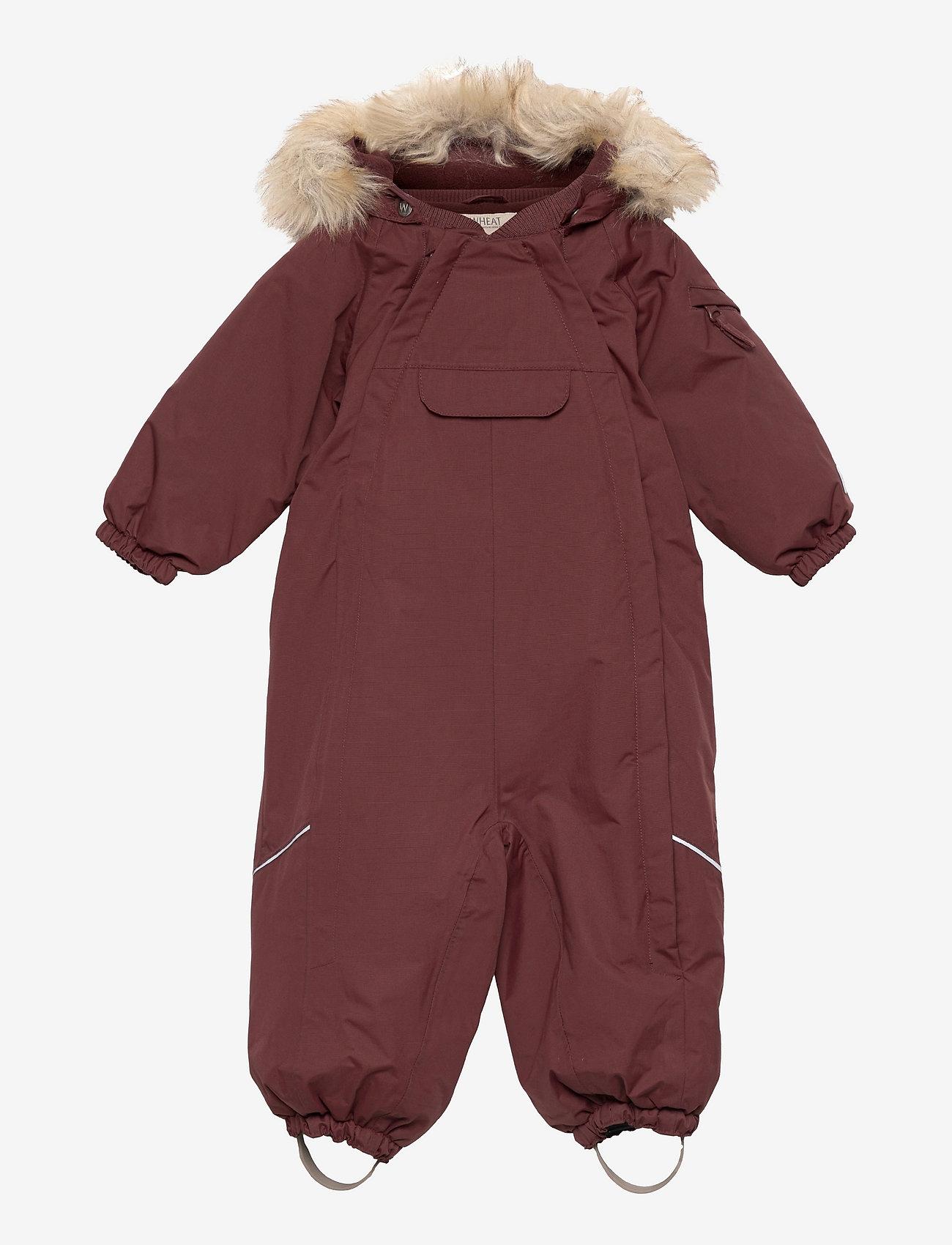 Wheat - Snowsuit Nickie Tech - snowsuit - maroon - 0