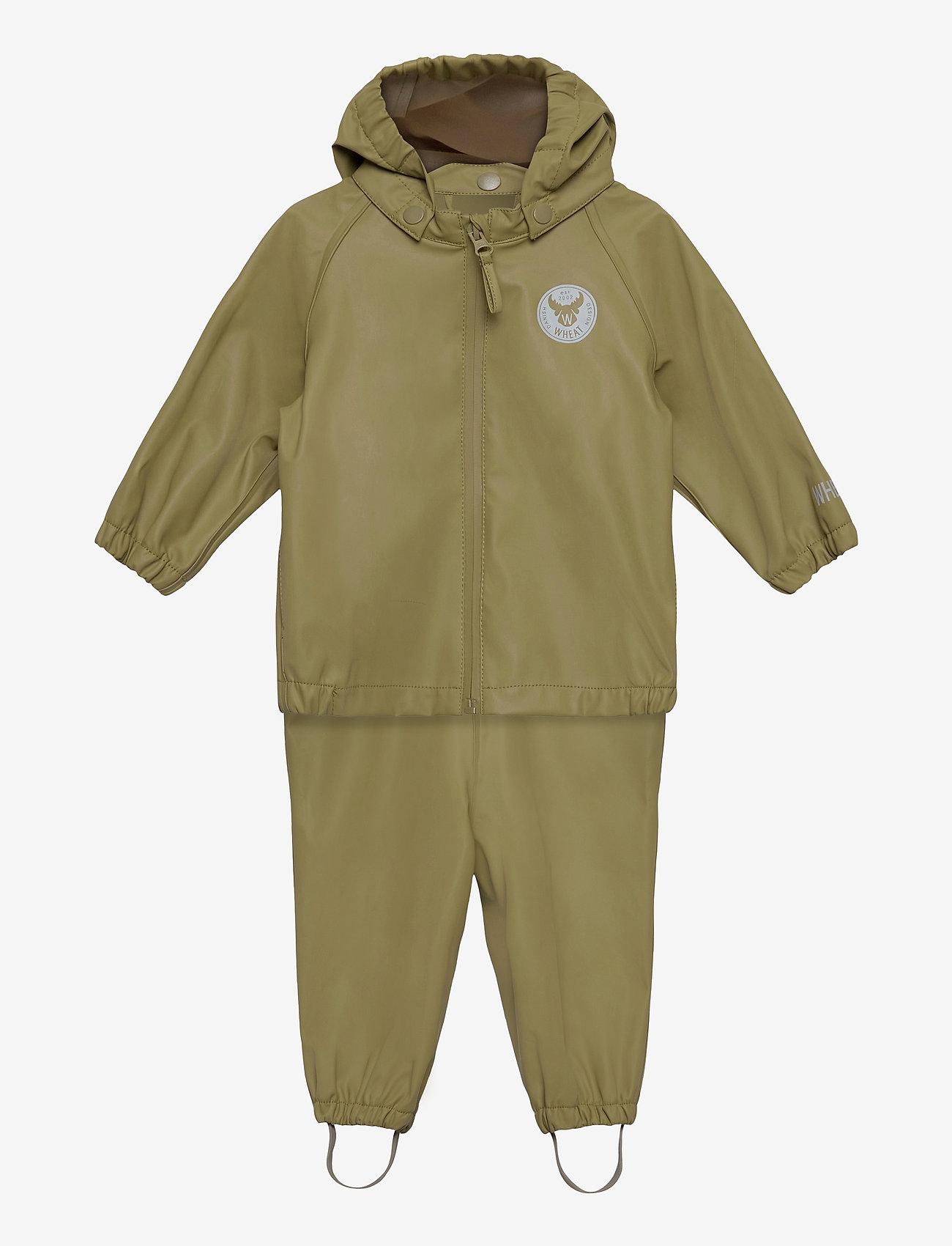 Wheat - Rainwear Charlie - sets & suits - heather green - 0