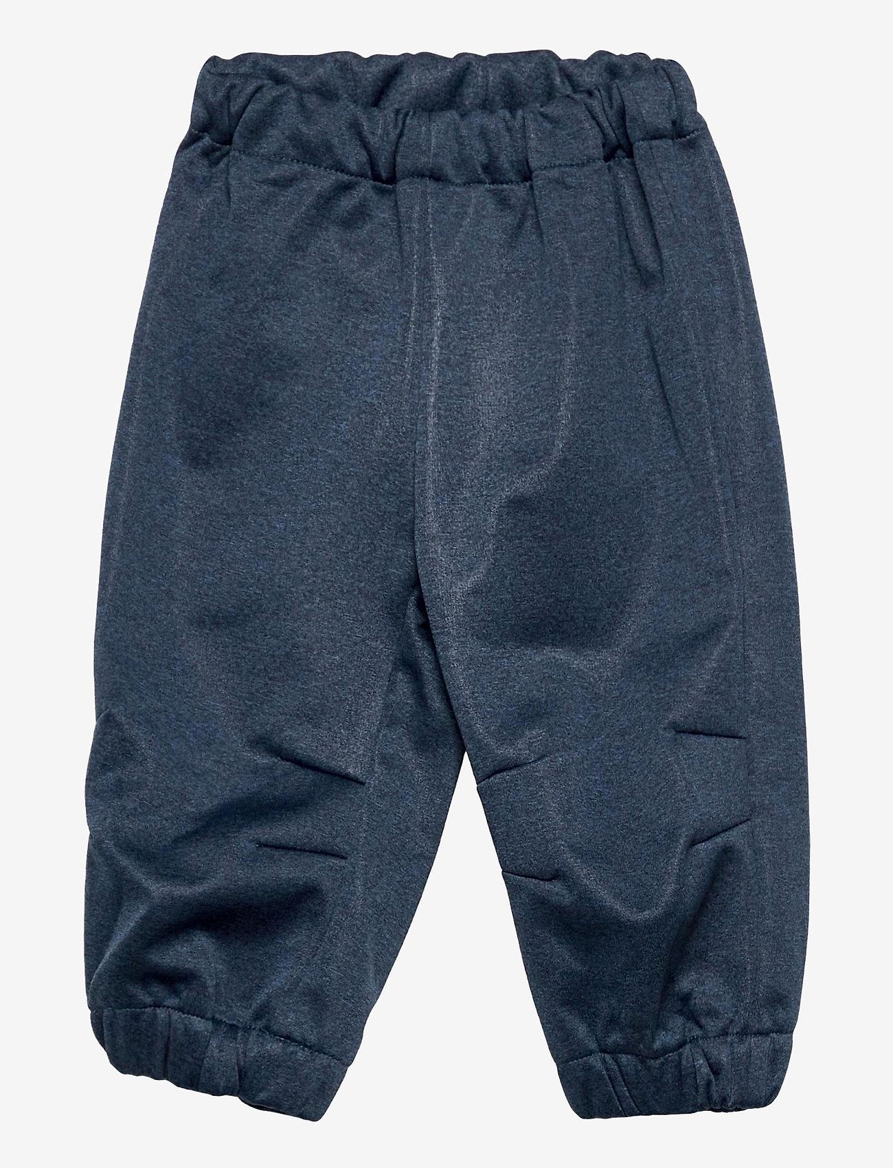 Wheat - Softshell Pants Jean - underdele - blue melange - 0