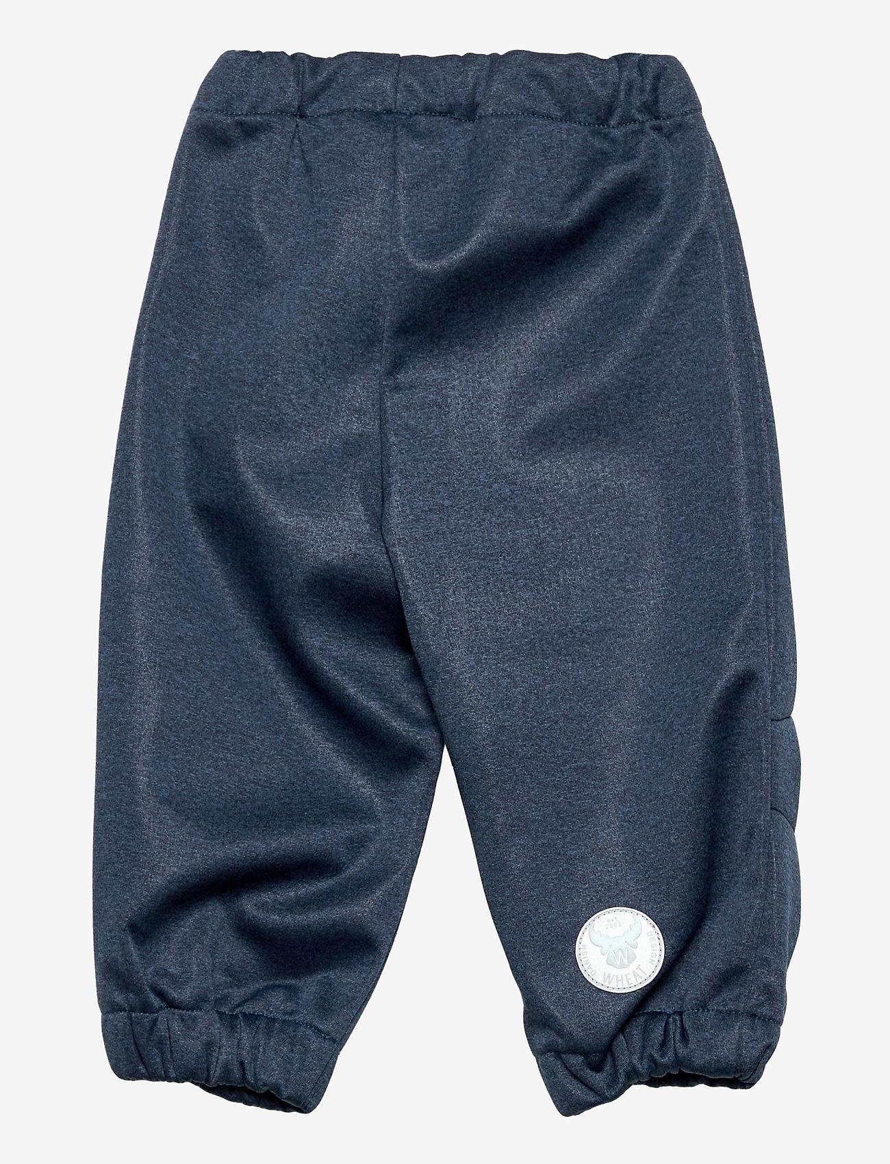 Wheat - Softshell Pants Jean - broeken - blue melange - 1