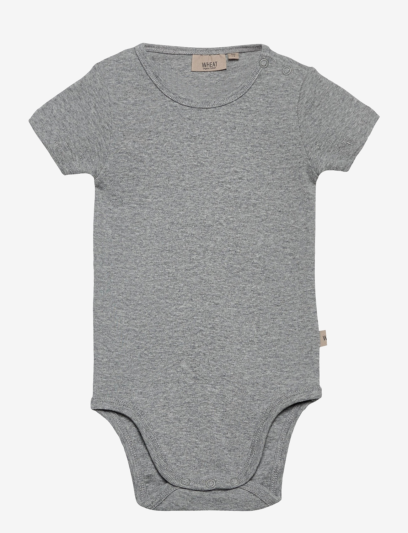 Wheat - Body Plain SS - kurzärmelige - melange grey - 0