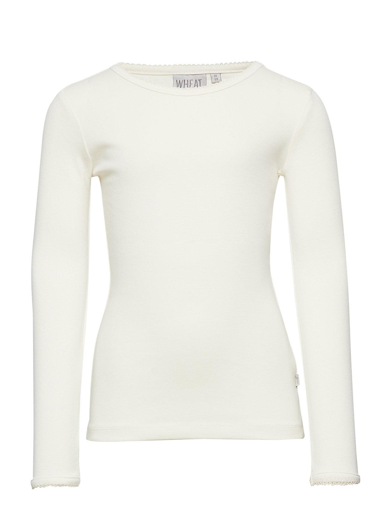 Wheat Basic Girl T-Shirt LS - EGGSHELL