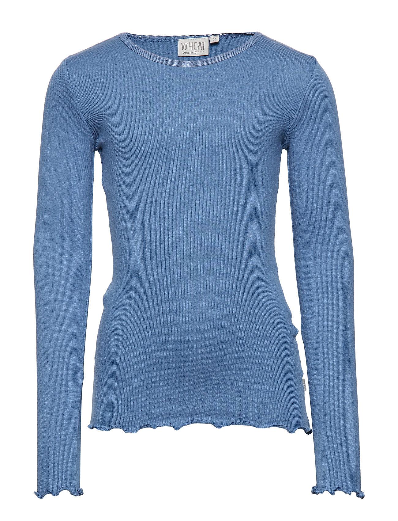 Wheat Rib T-Shirt Lace LS - BLUE HORIZON