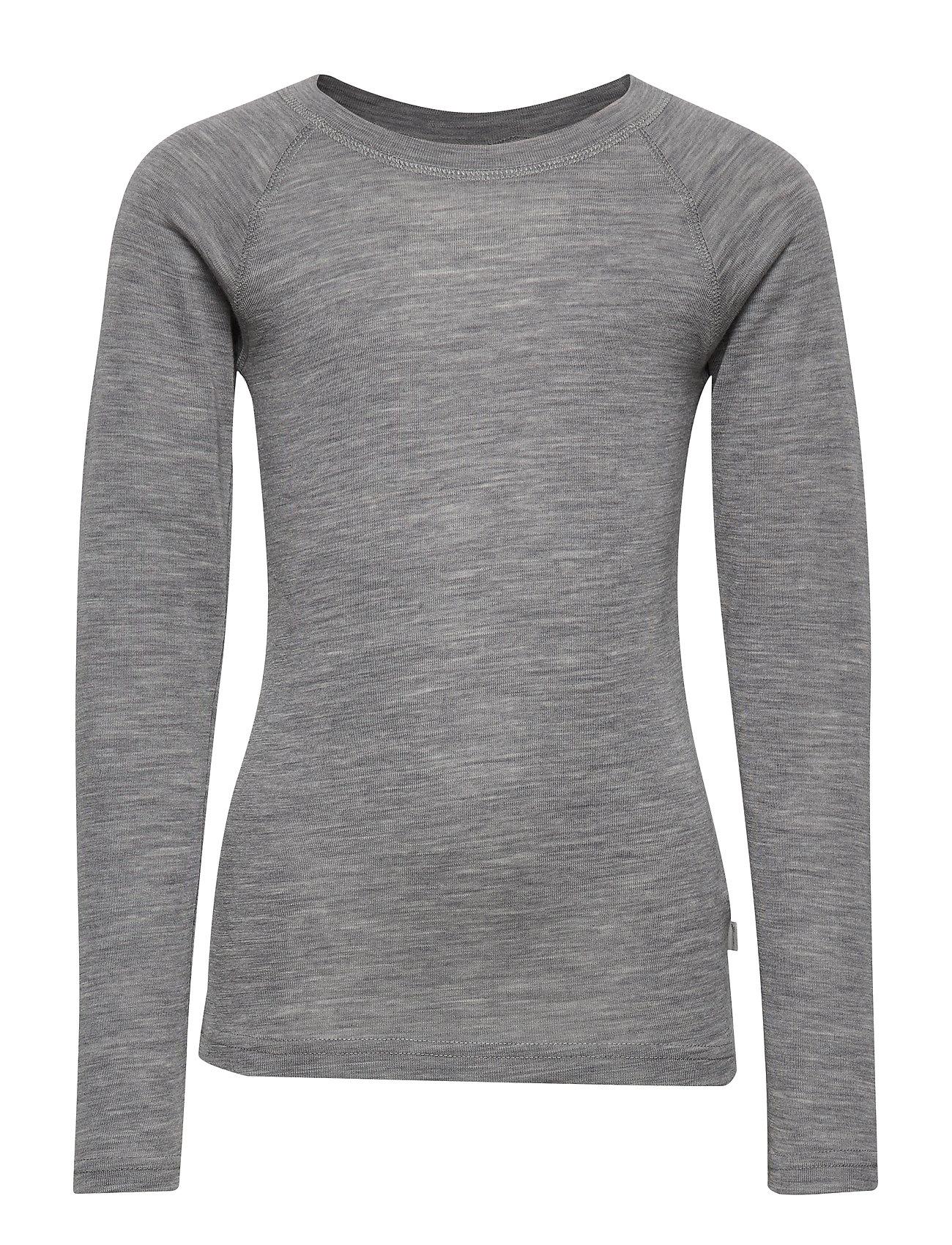 Wheat Wool T-Shirt LS - MELANGE GREY
