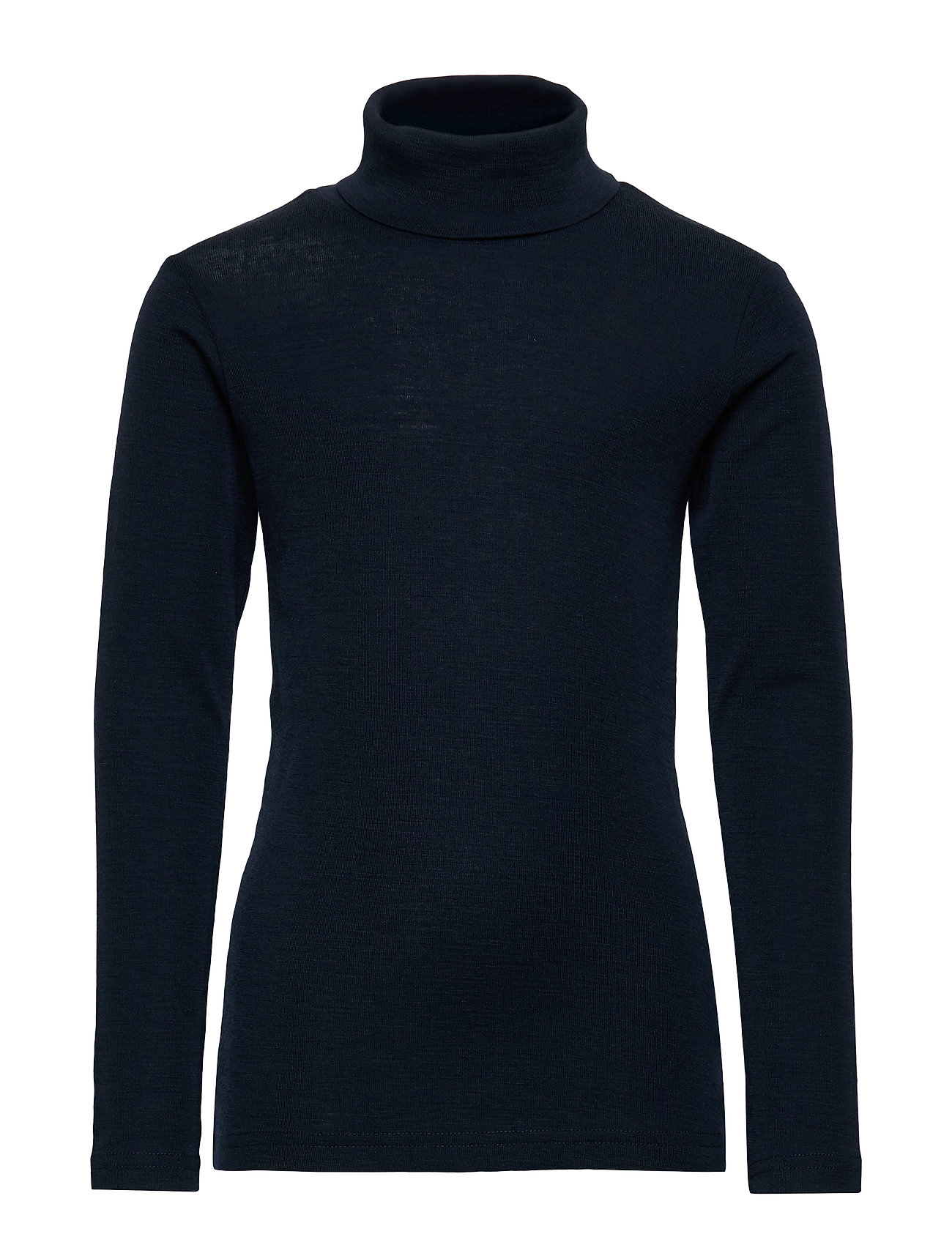 Wheat T-Shirt Roll Neck Wool - NAVY
