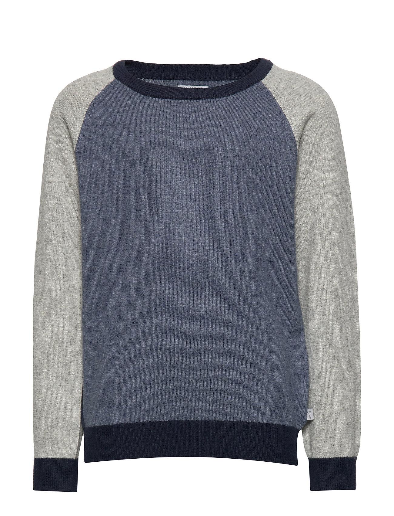 Wheat Knit Pullover Flemming - GREYBLUE MELANGE