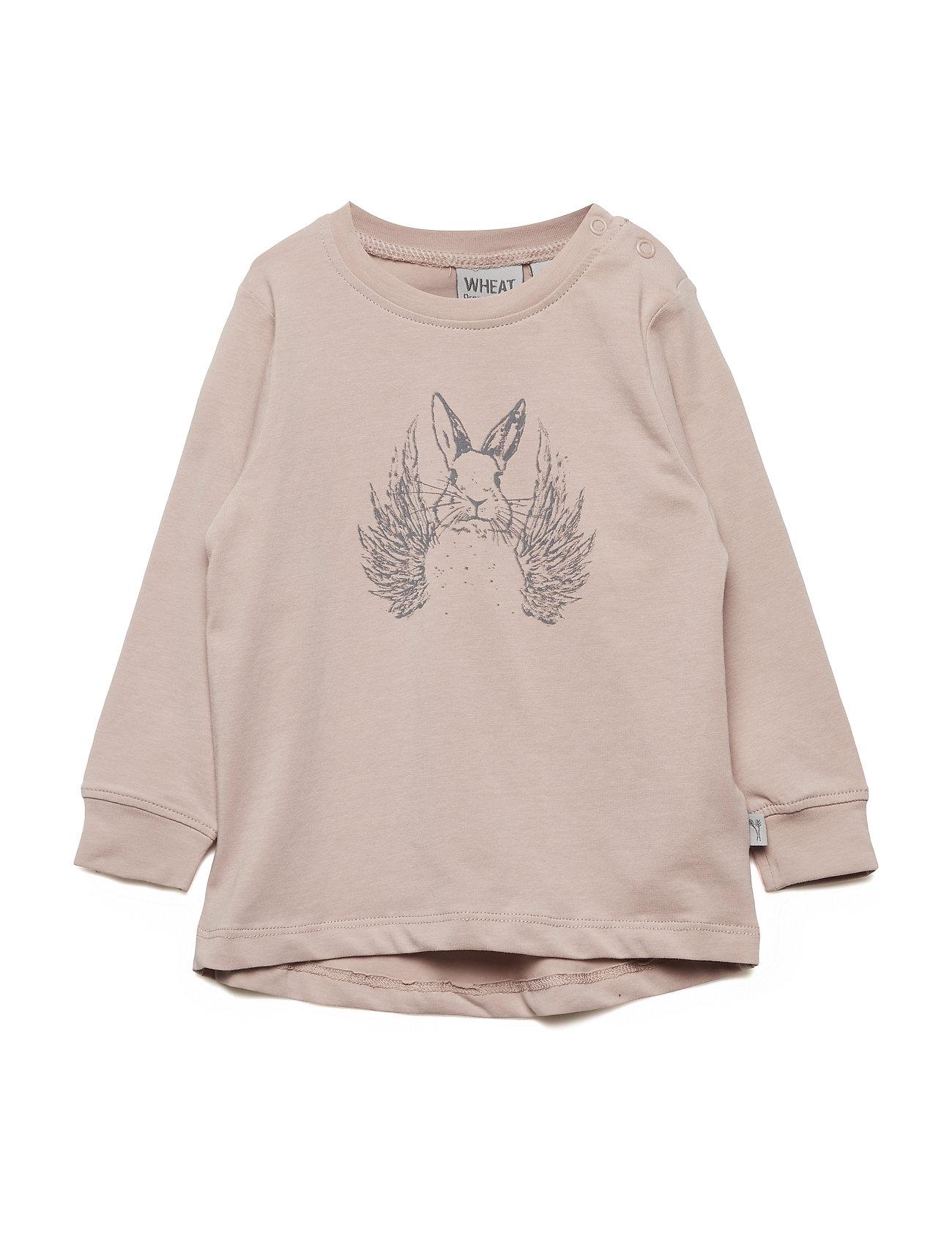 Wheat T-Shirt Flying Rabbit - ROSE POWDER