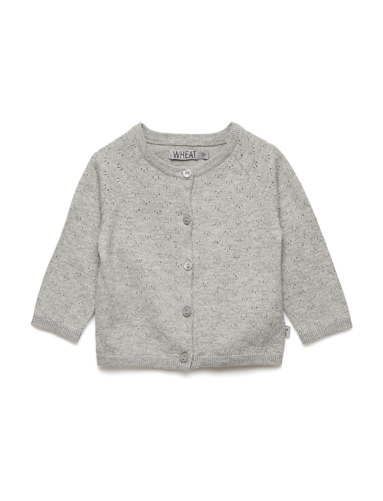 Wheat Knit Cardigan Maja - MELANGE GREY