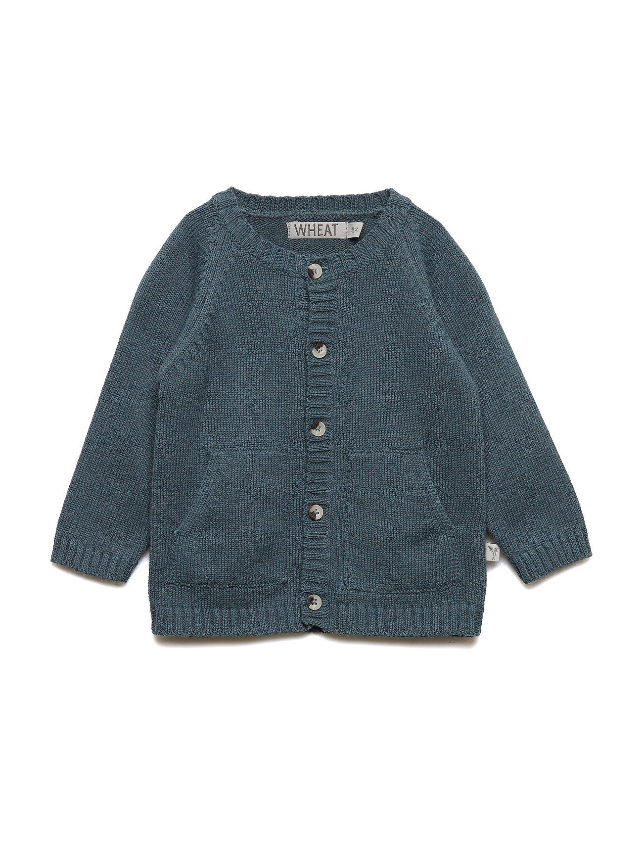 Wheat Knit Cardigan Classic - STORMY MELANGE