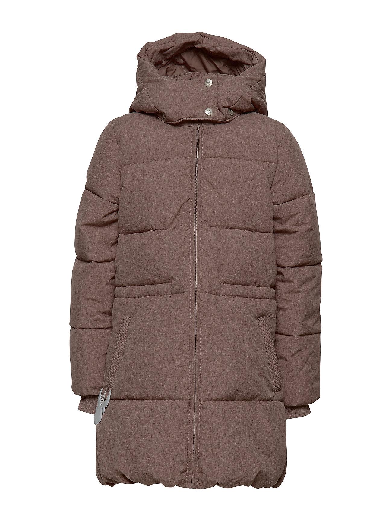 Wheat Down Coat Nanny - PLUM MELANGE