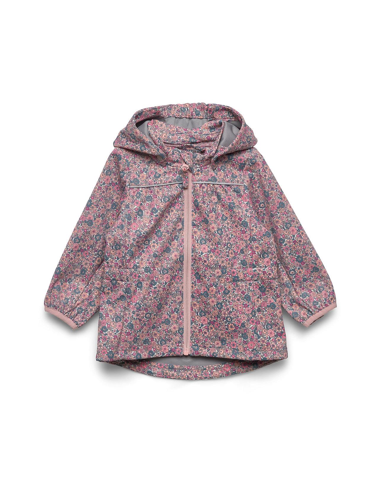 Wheat softshell jacket Gilda eggshell flowers