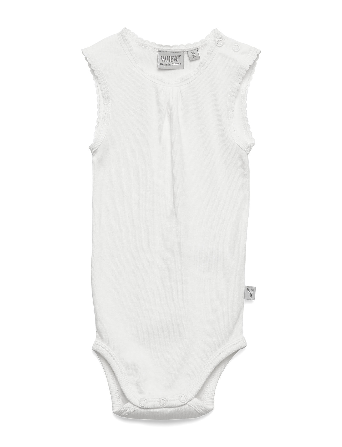 Image of Rib Body Sleeveless Bodies Short-sleeved Hvid Wheat (3350775169)