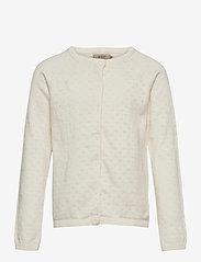 Wheat - Knit Cardigan Maja - gilets - ivory - 0