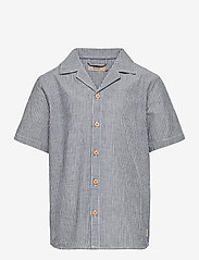 Wheat - Shirt Anker SS - shirts - cool blue stripe - 0
