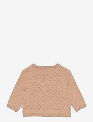 Wheat - Knit Cardigan Maja - gilets - sand melange - 1