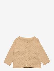 Wheat - Knit Cardigan Maja - gilets - soft beige - 0