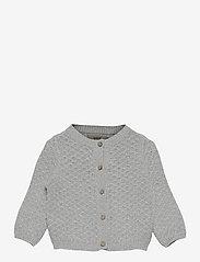 Wheat - Knit Cardigan Magnella - gilets - melange grey - 0
