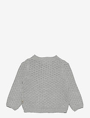 Wheat - Knit Cardigan Magnella - gilets - melange grey - 1