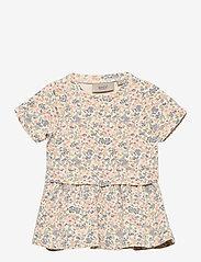 Wheat - Dress Adea - kleider - flowers and seashells - 0