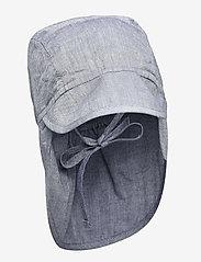 Wheat - Baby Boy Sun Hat - solhat - blue - 0
