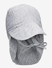 Wheat - Baby Boy Sun Hat - solhat - cool blue stripe - 0