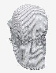 Wheat - Baby Boy Sun Hat - solhat - cool blue stripe - 1