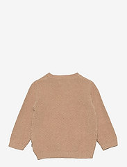 Wheat - Knit Cardigan Ray - gilets - sand melange - 1