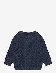 Wheat - Knit Cardigan Alf - gilets - blue melange - 1
