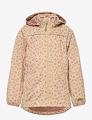 Wheat - Softshell Jacket Gilda - softshell jassen - soft beige flowers - 0
