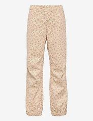 Wheat - Softshell Pants Jean - underdele - soft beige flowers - 0