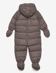 Wheat - Puffer Baby Suit - snowsuit - brown check - 2