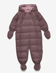 Puffer Baby Suit - POWDER PLUM DOTS