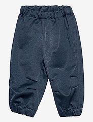 Wheat - Softshell Pants Jean - broeken - blue melange - 0