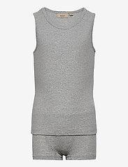 Wheat - Boy Underwear - sets - melange grey - 0