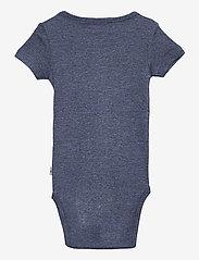 Wheat - Rib Body Plain SS - kurzärmelige - blue melange - 1