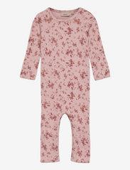 Wool Jumpsuit Gatherings - ROSE FLOWERS